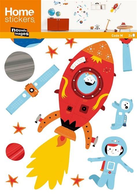 kinderzimmer deko raumschiff kinder wandtattoo weltraum mit space shuttle raketen