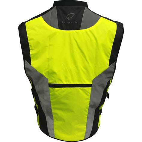 reflective bicycle jacket black hi vis reflective motorcycle vest motorbike