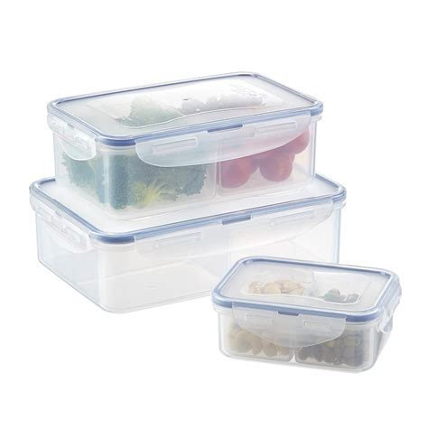 sectioned storage containers lock lock divided food storage the container store