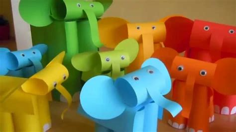 Paper Elephant Craft - paper elephant