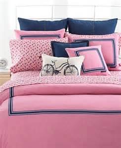 hilfiger pink oxford collection comforter