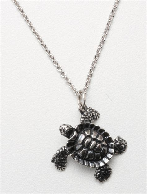 sea turtle sterling silver necklace
