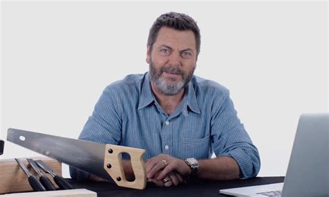 nick offerman answers woodworking questions cool material