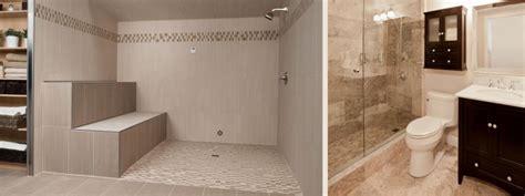 luxury showers walk  open showers