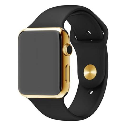 Apple Series 4 24k Gold by 24k Gold Apple Series 4 With Black Sports Band