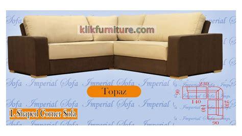 Sofa Minimalis Leter L jual sofa minimalis leter l topaz harga promo