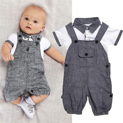 4 Month Baby Boy Clothes by Newborn Baby Boy Gentleman Clothes Shirt Tops Bib