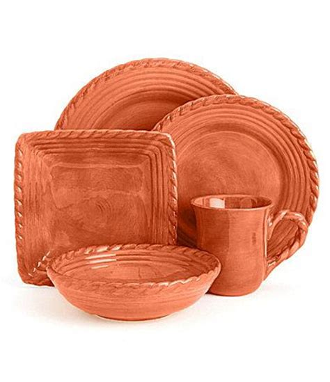 Artimino Tuscan Countryside Terracotta Dinnerware Dillards For The Home