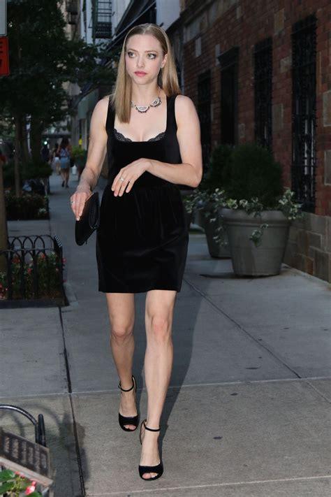 Amanda Dres amanda seyfried in mini dress new york city september 2015