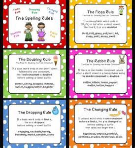 Love 2 teach five spelling rules posters freebie
