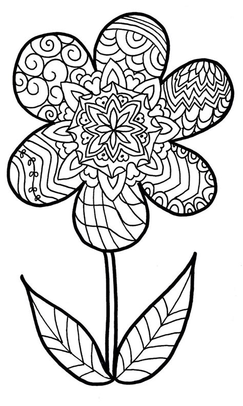 coloring pages abstract flowers free funky flower printables search patterns