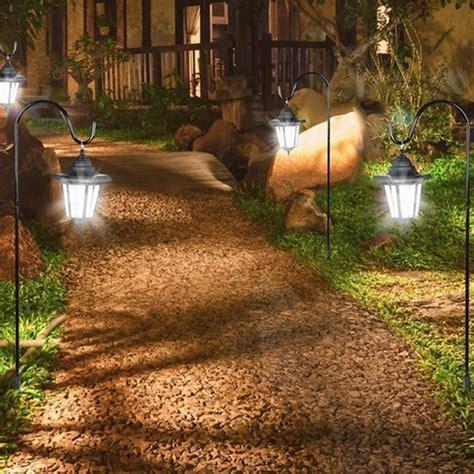 lanterne per giardino lanterne da esterno e giardino a energia solare set 3 pezzi