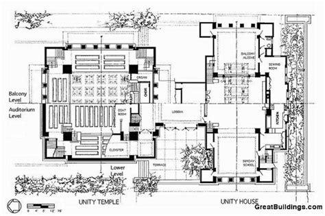 unity layout size ad classics unity temple frank lloyd wright archdaily