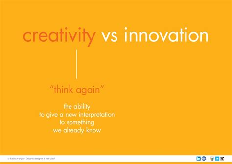 Mba In Innovation Vs Strategy by Creativity Vs Innovation Think Again