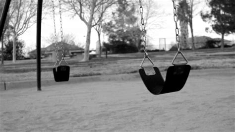scary swing scary black and white life creepy swings swinging holding