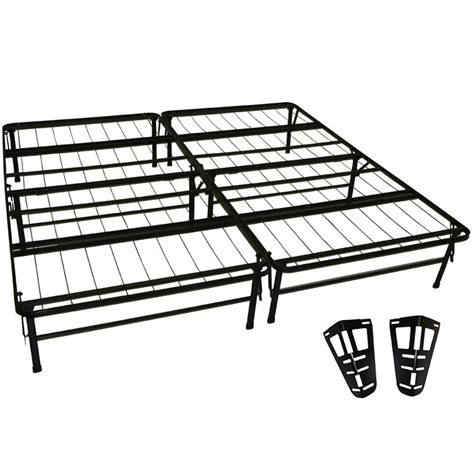 High Rise Metal Bed Frame Greenhome123 King Size High Rise Metal Bed Frame With Headboard Brackets Home Mattresses