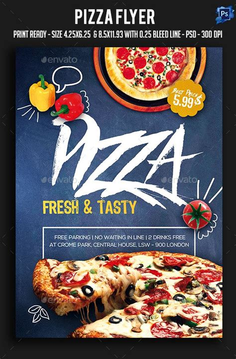 pizza flyer template free pizza flyer advertising flyer template and restaurant