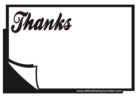 8 Best Images Of Thank You Cards Printable Black And White Free Printable Thank You Black And Thank You Card Template Black And White