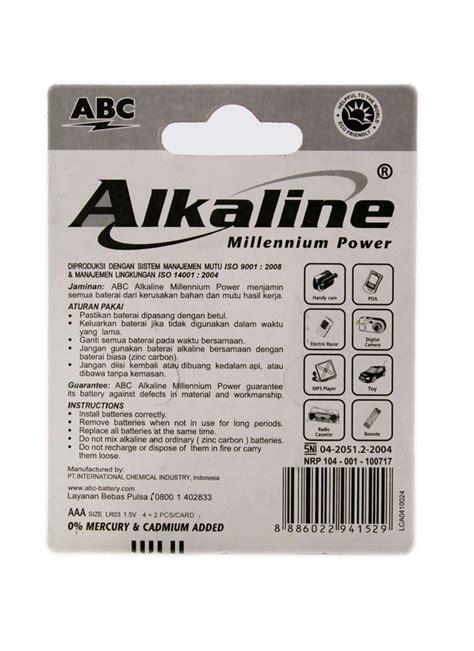 Baterai Aa Eveready Silver Alkaline 1 Set Isi 2 Pcs 3 abc battery alkaline aa lr6 4 s millennium pwr pck klikindomaret