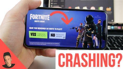 why fortnite keeps crashing fortnite ios crashing explained iphone 5s 6 6 plus
