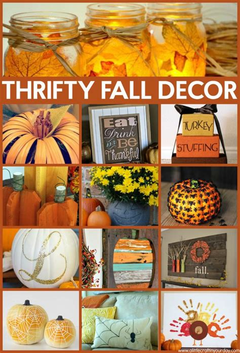 thrifty fall decor ideas a craft in your daya