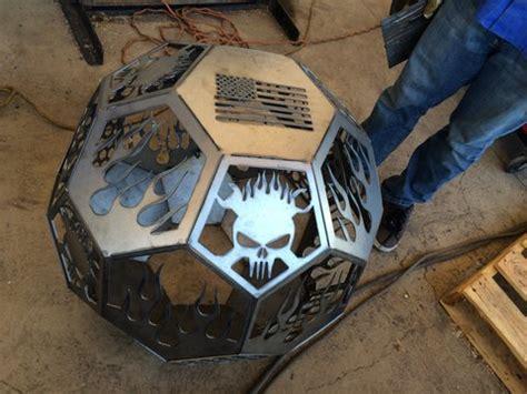 geo sphere fire pit  zackary swanson workhands