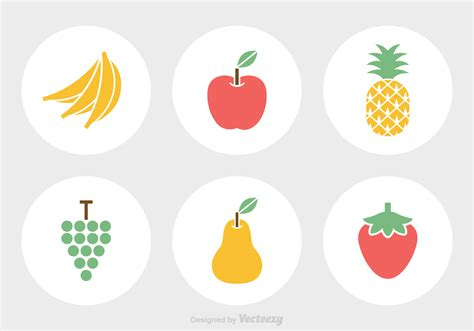vector free free fruit vector icons free vector stock