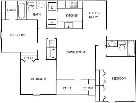 plain 3 bedroom apartment floor plans on apartments with 3 bedroom floor plan with dimensions photos and video