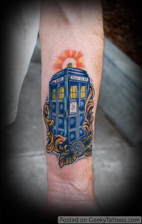 tardis tattoo doctor who tardis geeky tattoos
