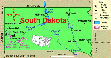 Usa Map South Dakota by South Dakota Land Map