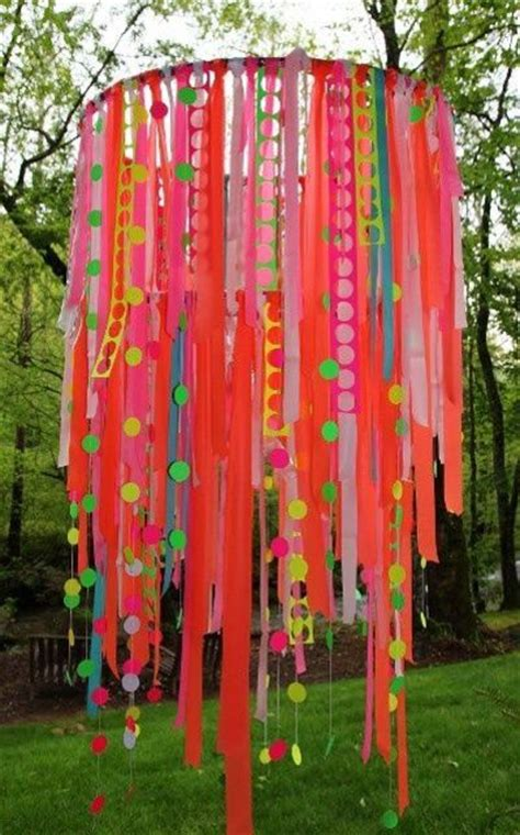 how to make a ribbon chandelier hula hoop ribbon