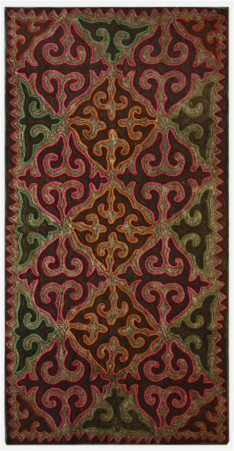 Felt Area Rugs 1000 Images About Shyrdak Rugs Yurt On Color Of Felt And Square Meter