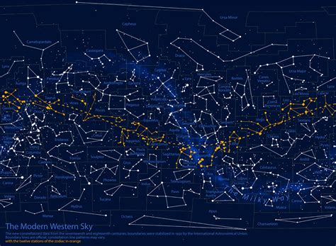 sky maps map constellation charts