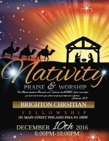 Christmas Flyer Us Letter Templates Postermywall Nativity Flyer Template