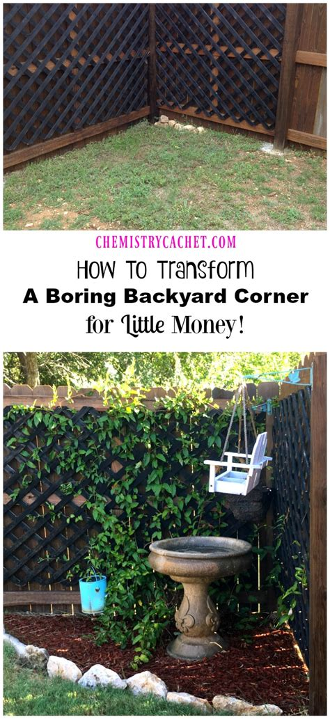 Backyard Corner by How To Transform A Boring Backyard Corner For Money