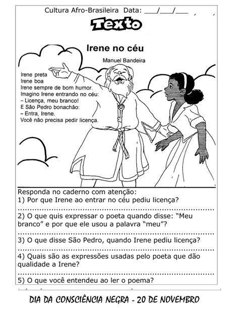 DIA DA CONSCIÊNCIA NEGRA ATIVIDADES EXERCÍCIOS DESENHOS