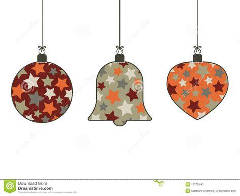 retro hanging decorations stock vector image