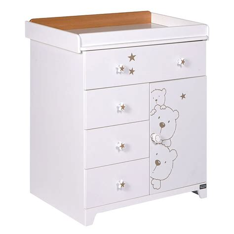 Chest Of Drawers Baby Changer tutti bambini 3 bears chest drawers baby changer nursery