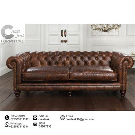 Jual Sofa Bed Minimalis Bekas sofa tamu chesterfield jepara createak furniture