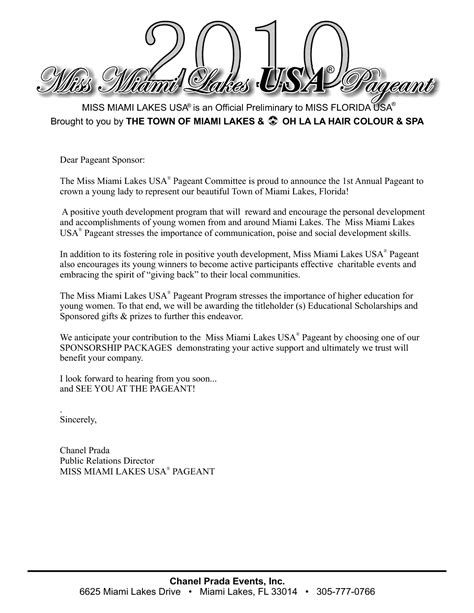 Letter Sle For Pageant 100 Charity Solicitation Letter Sle 28 Donation Request Template 28 Images 43 Free