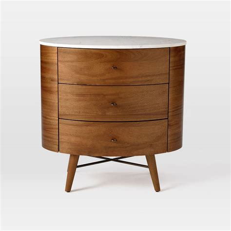 Bedside Table Penelope 3 Drawer Bedside Table West Elm Uk