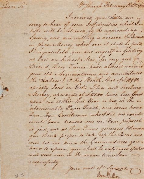 Letter Pic Zoom In On Benjamin Waller S Letter The Colonial Williamsburg Official History Site