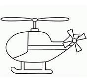 Simple Helicopter Coloring Page  Free Printable