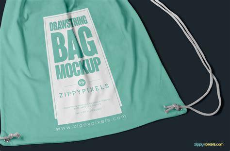 pattern fabric mockup free drawstring backpack mockup psd zippypixels