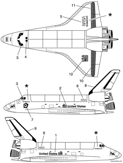 space plan space shuttle plans aerofred free model
