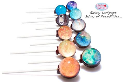 Handmade Lollipops - 10 handmade galaxy lollipops gift pack wrapped