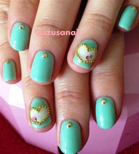 imagenes de uñas acrilicas color verde menta u 241 as decoradas con esmalte verde agua
