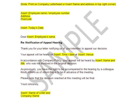 Grievance Appeal Letter Template Free Unfair Dismissal On The Web Invitations Ideas
