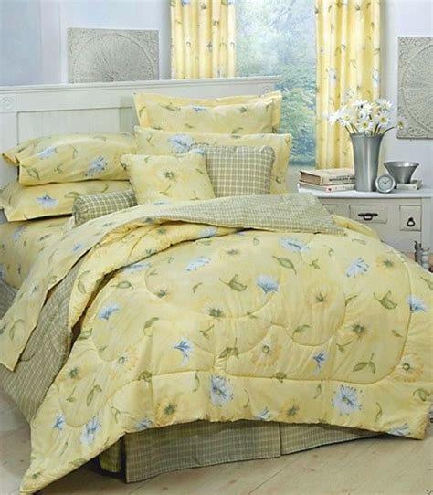 yellow twin bedding karin maki laura yellow daisy floral comforter bed set