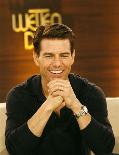 The Germans Welcome Tom Cruise by Tom Cruise Smiles During The German Tv Show
